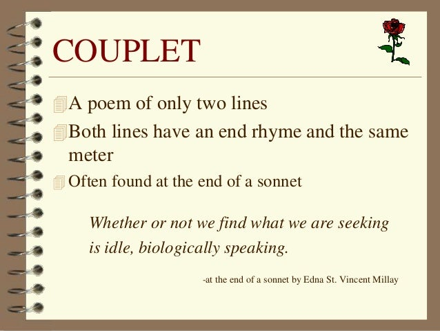 how to write couplet poetry