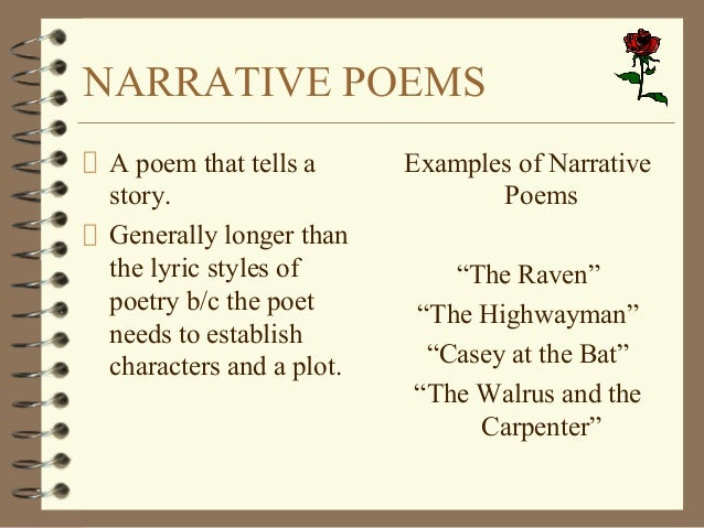 short narrative poems that tell a story