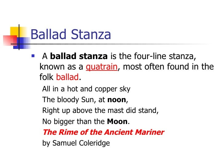 example of stanza
