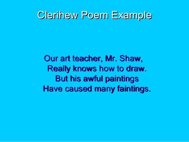 Poetryppt lit lesson_1, Presentation listing different types of poems…