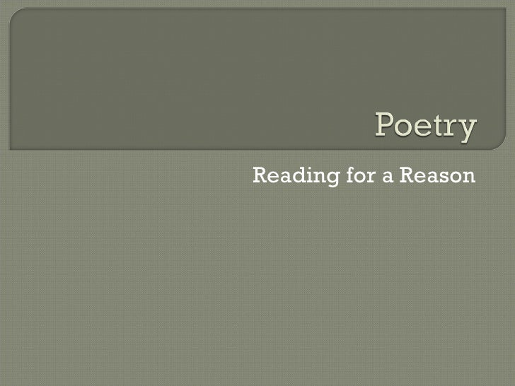 Reading for a Reason