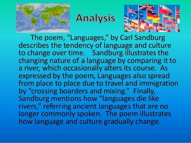 languages by carl sandburg