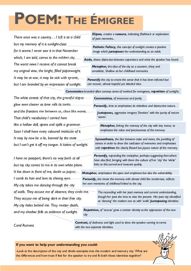aqa poems Most of the poems can be found on this link, search poet and click on the poets name, find the correct poem carefully see the zigzageducation older.