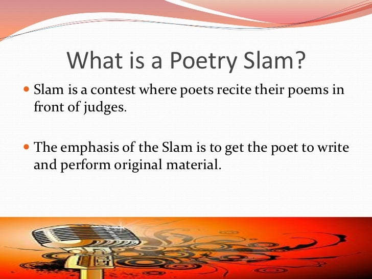 Dissertation poetry slam