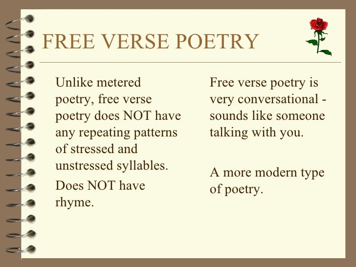 High Quality Free Form Poetry Definition