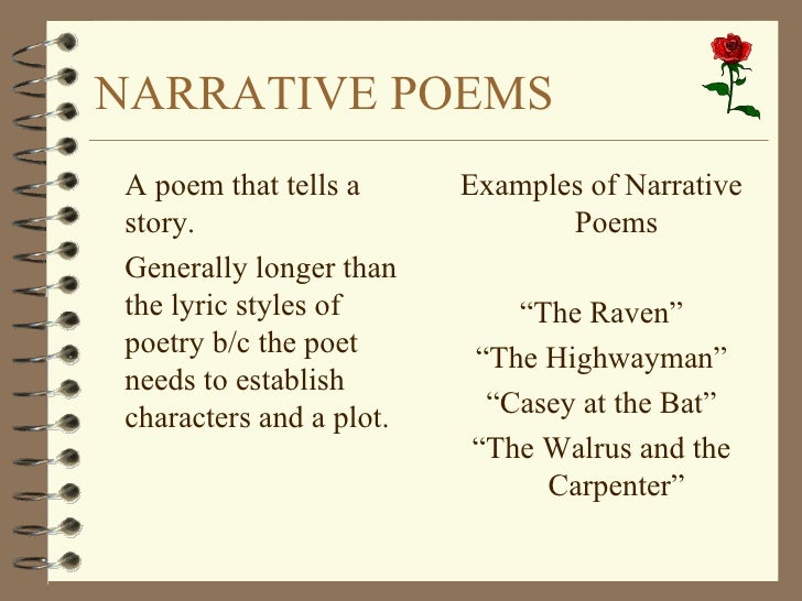 narrative poem examples for teenagers - photo #24