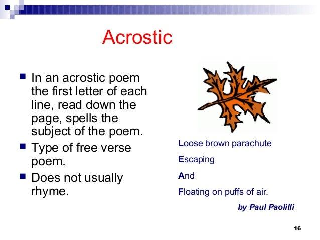 Poems Types 5