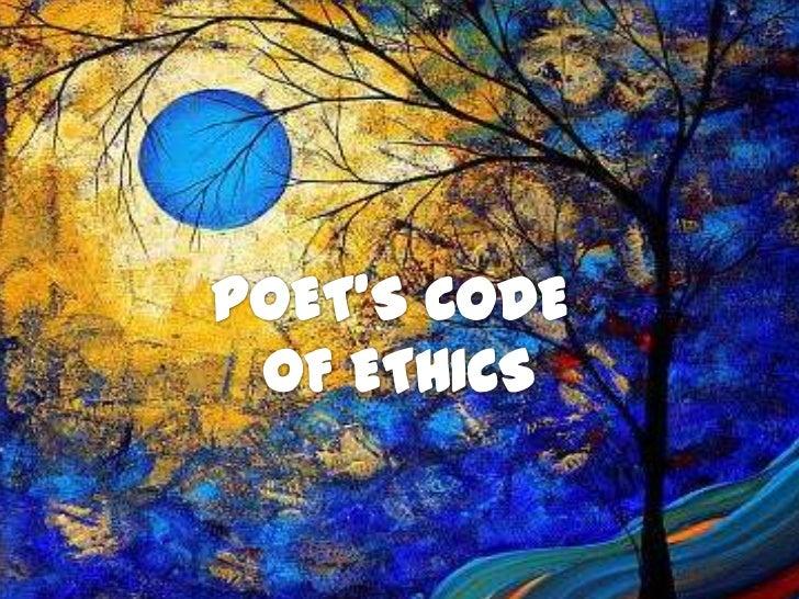 POET'S CODE <br />OF ETHICS<br />