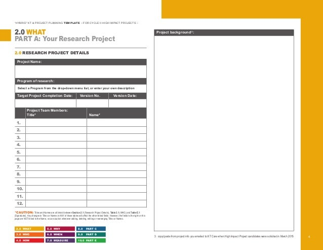Hybrid KT Project Planning Template - Project details template