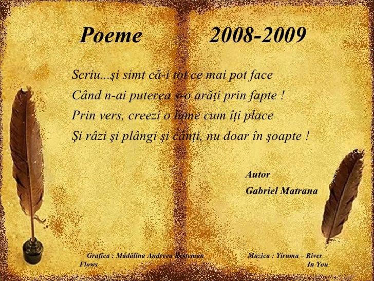 Poeme 2008 2009 Scriui Simt C I Tot Ce Mai