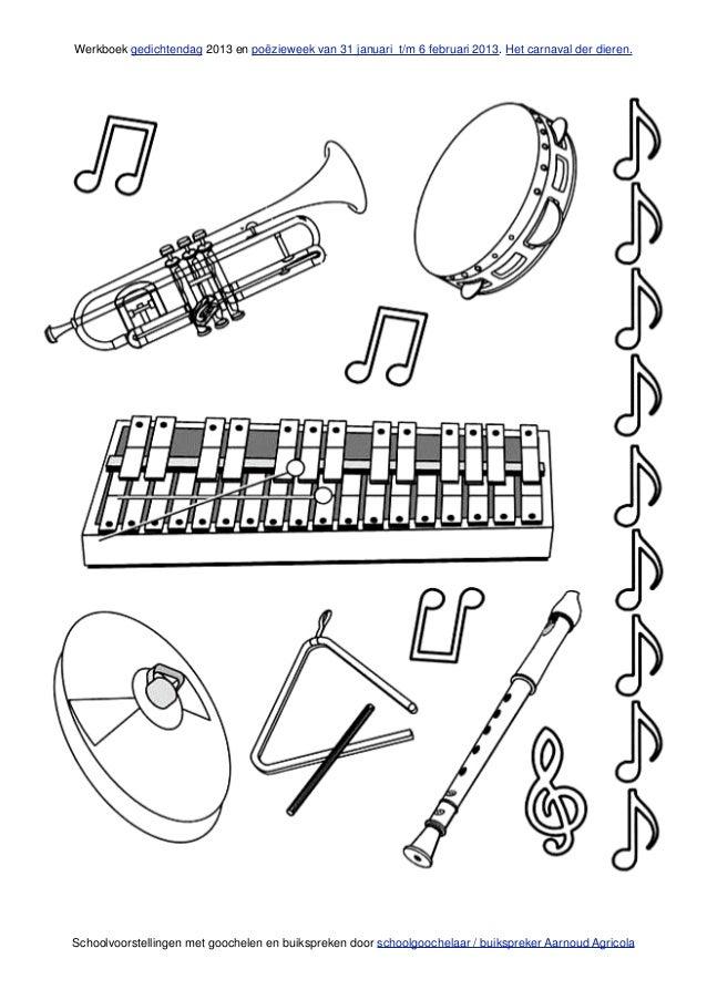 poezie en muziek werkboek over het carnaval der dieren van schoolgooc u2026