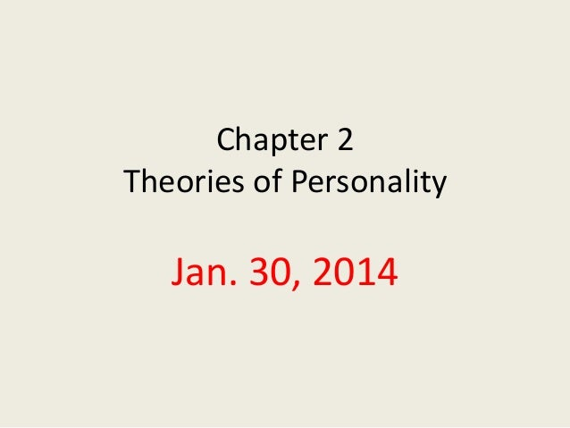 Chapter 2 Theories of Personality  Jan. 30, 2014