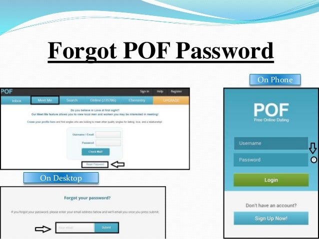 Pof login and password