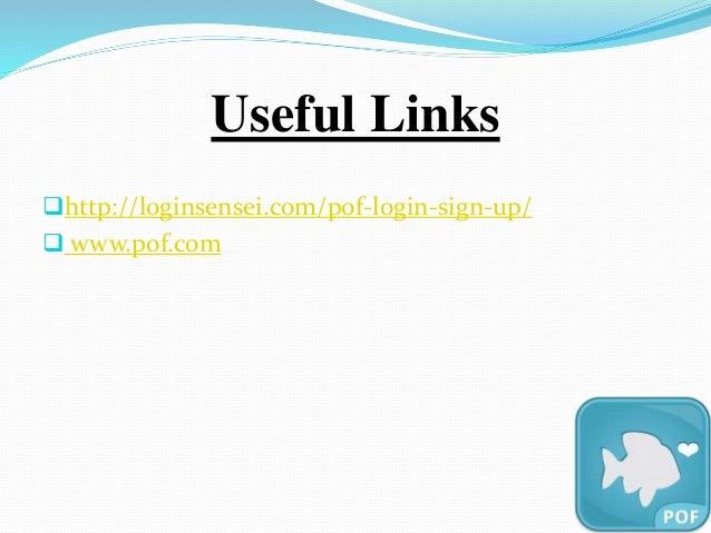 pof Login Desktopseite