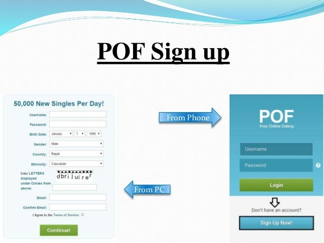 pof login sign in