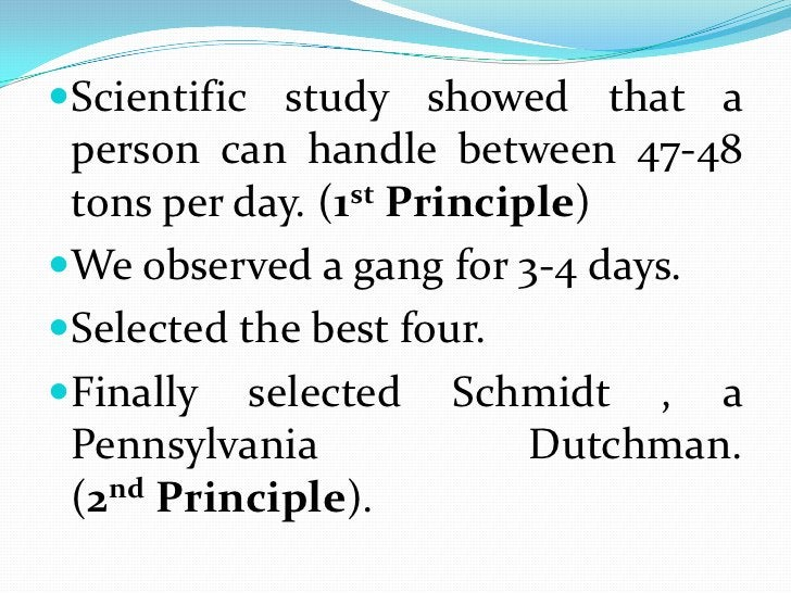 Scientific study showed that a person can handle between 47-48 tons per day. (1st Principle)<br />We observed a gang for 3...