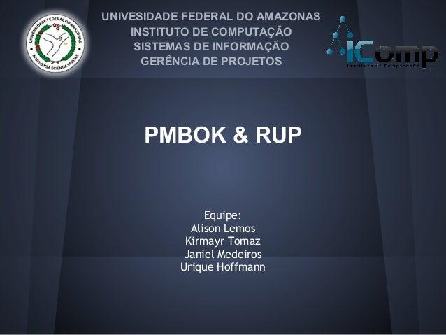 UNIVESIDADE FEDERAL DO AMAZONAS    INSTITUTO DE COMPUTAÇÃO     SISTEMAS DE INFORMAÇÃO      GERÊNCIA DE PROJETOS     PMBOK ...