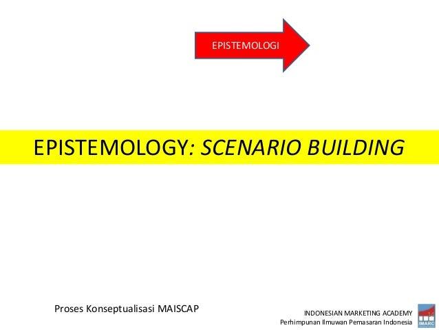 INDONESIAN MARKETING ACADEMY Perhimpunan Ilmuwan Pemasaran Indonesia 14 Proses Konseptualisasi MAISCAP EPISTEMOLOGI EPISTE...