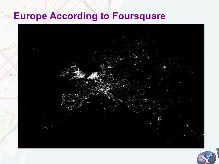 Europe According to Foursquare