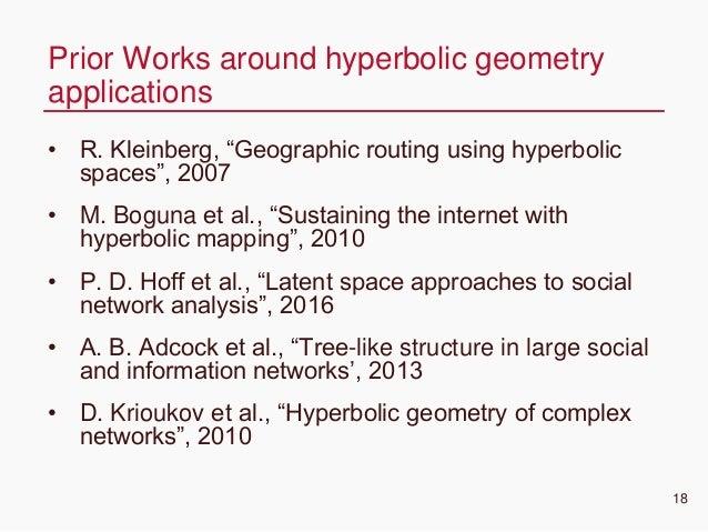 "CONFIDENTIAL • R. Kleinberg, ""Geographic routing using hyperbolic spaces"", 2007 • M. Boguna et al., ""Sustaining the intern..."