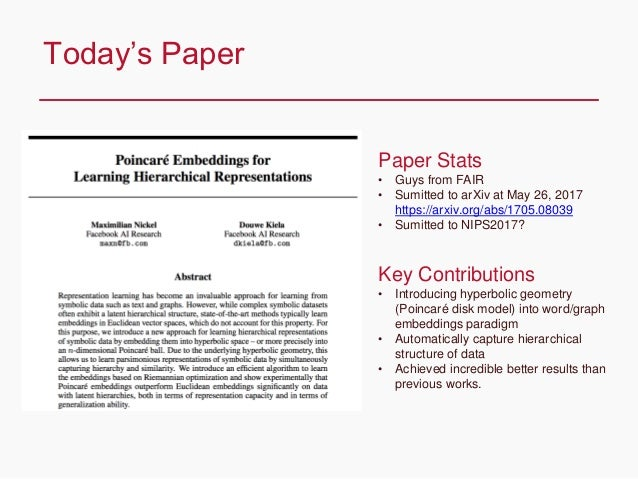 CONFIDENTIAL Today's Paper Paper Stats • Guys from FAIR • Sumitted to arXiv at May 26, 2017 https://arxiv.org/abs/1705.080...