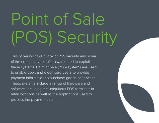 Point Of Sale Security Defending Against Pos Malware