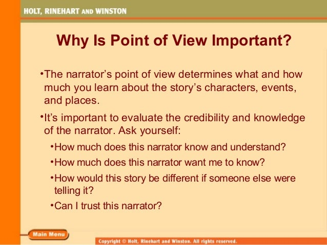 the point of view in how It has come to my attention that point-of-view is one of the most important craft  choices one will make in regards to his or her novel it's a big.