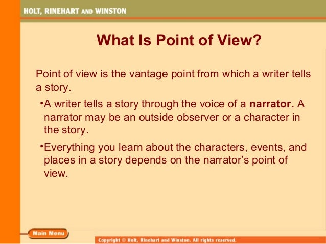 Point of View Slide 2