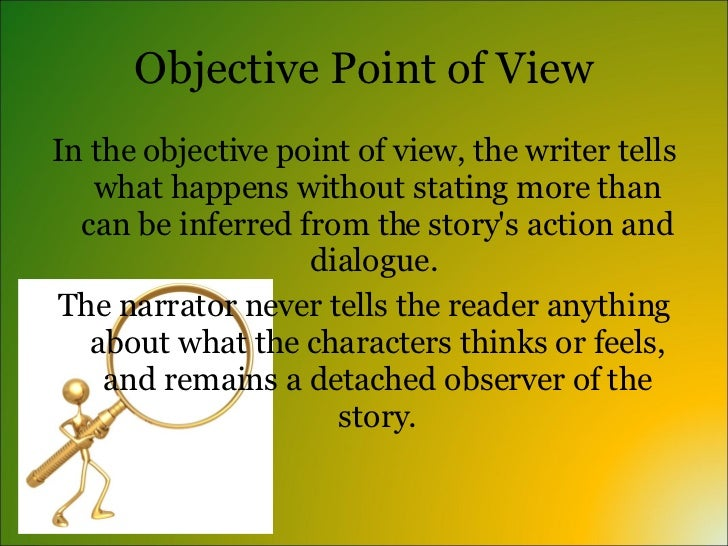 point of view of short stories This is a common type of narrative point of view for popular music lyrics (in which the narrator often directly speaks to another person) and certain types of poetry, though it is quite rare in other common forms of literary narrative, such as novels or short stories.