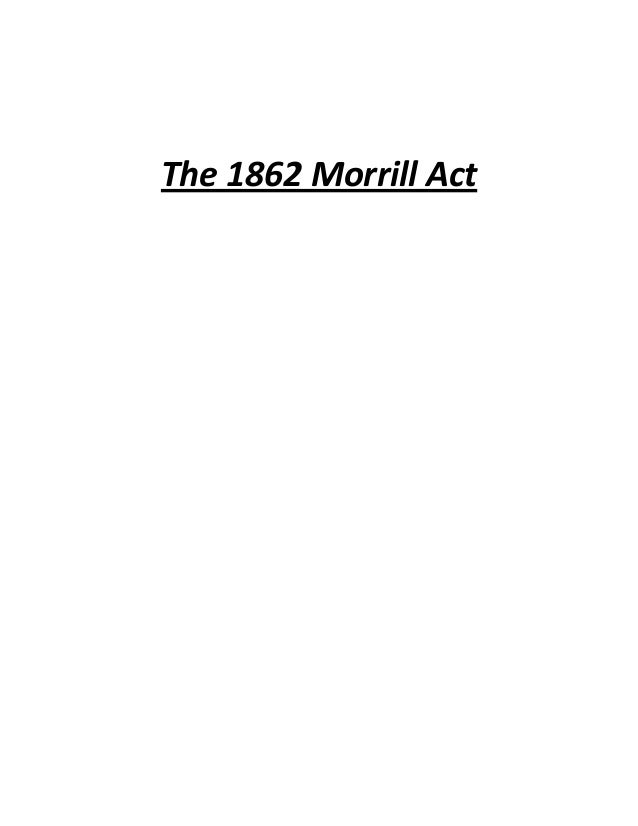 The 1862 Morrill Act