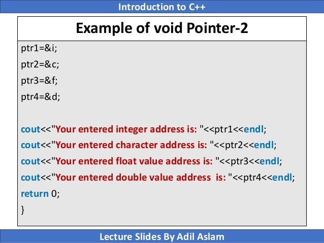 Detailed information about pointers in c language.