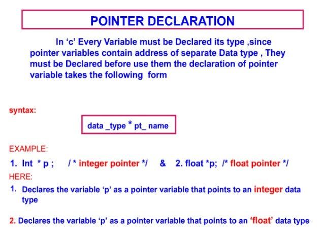 Pointers C programming