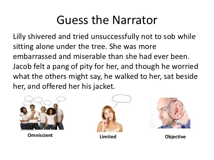 Guess the Narrator<br />Lilly shivered and tried unsuccessfully not to sob while sitting alone under the tree. She was mor...