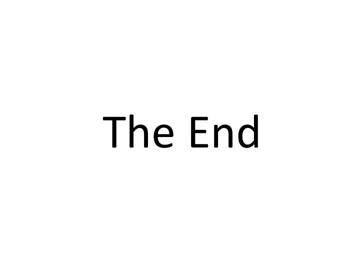 The End<br />