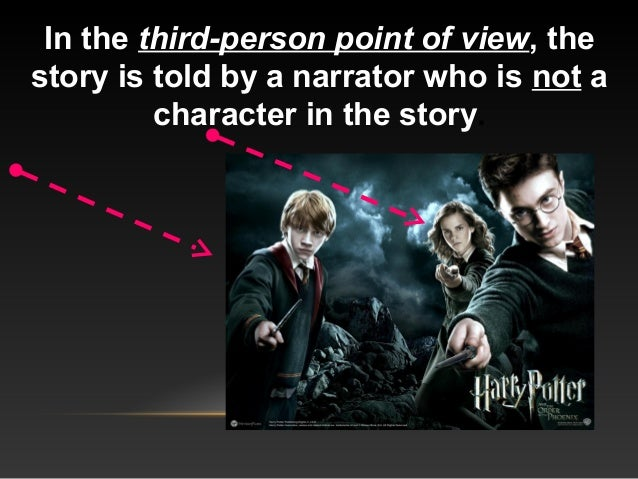In the third-person point of view, the story is told by a narrator who is not a character in the story.