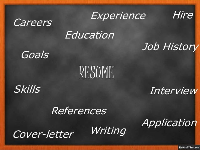 RESUME Job History Education Application Writing Interview Cover-letter References Skills Careers HireExperience Goals