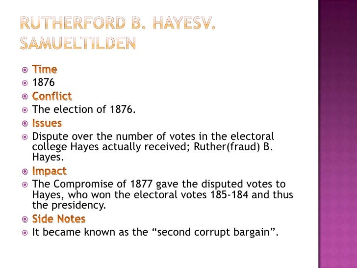 ruther fraud b hayes What was rutherford b hayes' major accomplishments source(s): impersonation or misrepresentation, fraud or phishing, show more additional details.