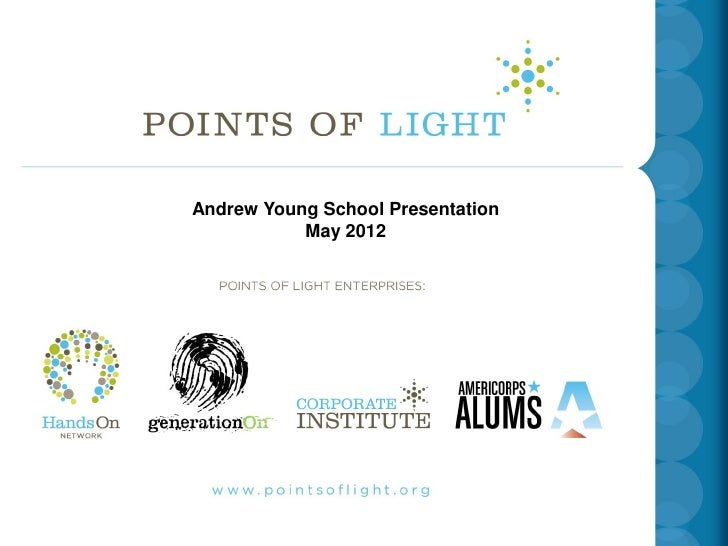 INSERT School Presentation Andrew Young TITLE SLIDE            May 2012COMING FROM HEIDI