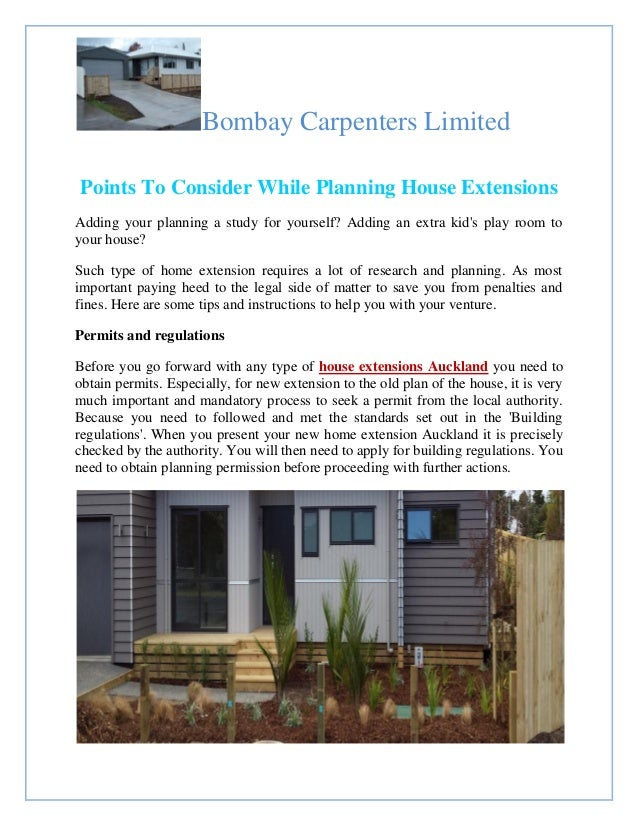 Bombay Carpenters Limited Points To Consider While Planning House Extensions  Adding Your Planning A Study For ...