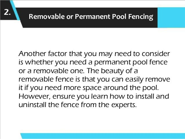 Points to Remember While Choosing a Pool Fence Slide 3
