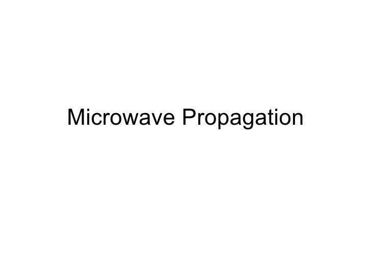 Microwave Propagation