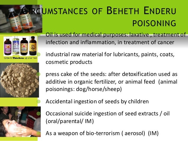 Poison plants - forensic medicine and toxicology