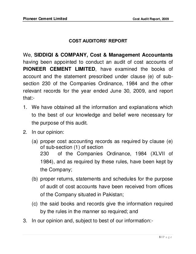 Poject On Cost And Audit Report Of Hero Moto Corp