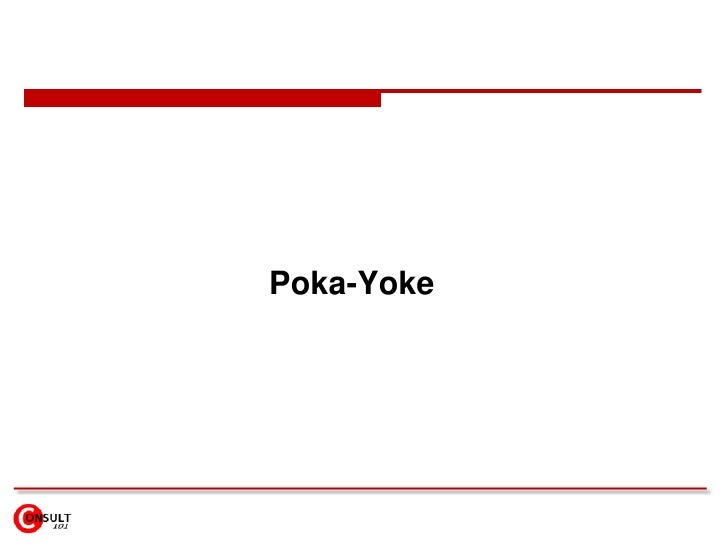 Poka-Yoke<br />