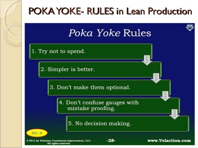 Poka Yoke A Lean Strategy To Mistake Proofing