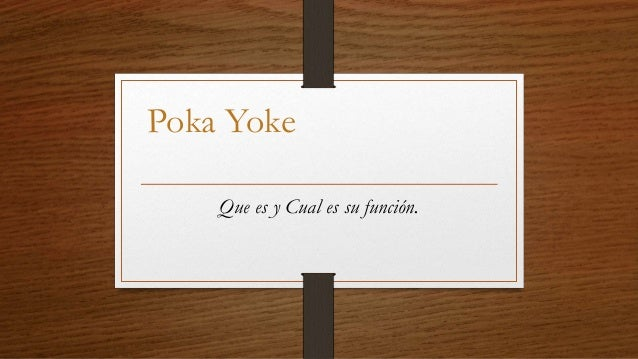 que es poka yoke pdf