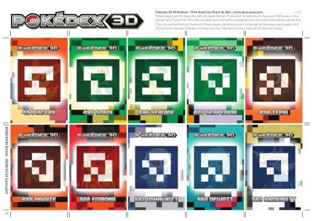 Pokedex 3D AR Markers • Print sheets by Pascal du Bois • www.pasu-pasu.com                                  v1.0          ...