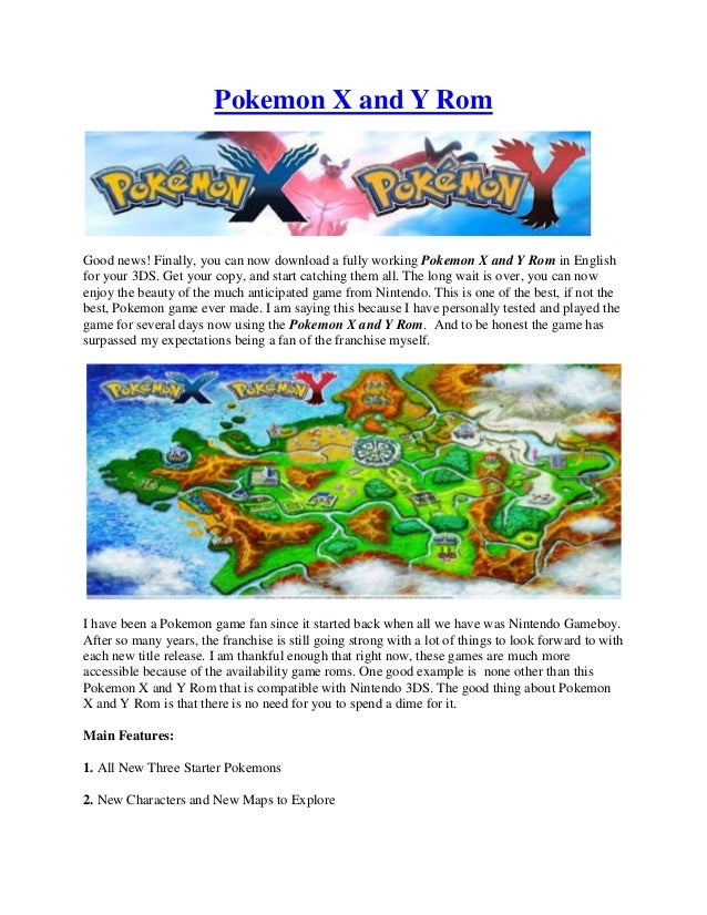 Pokemon X and Y Rom | Review + Tutorial on