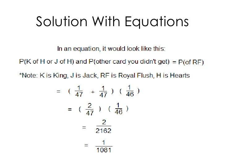 Poker Equations