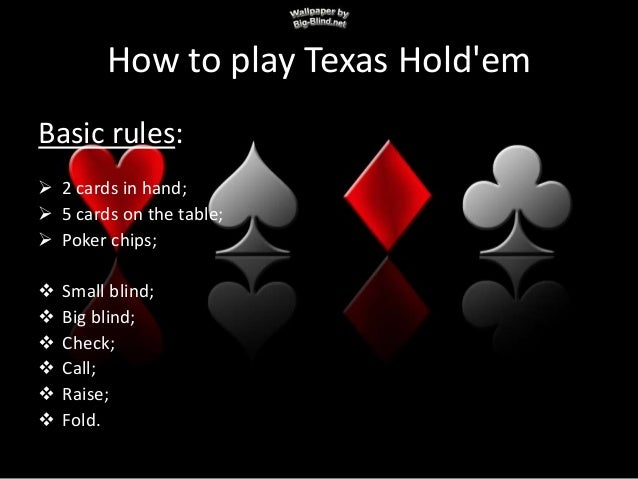Texas holdem dealing rules